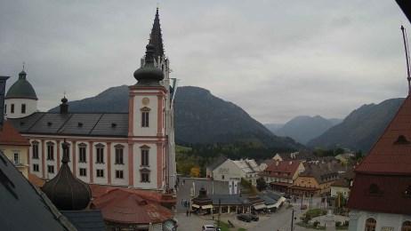 Blick auf Basilika Mariazell